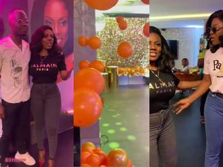 Slay Queen Who Stole Scented Candles at Nana Aba Anamoah's Party Finally Grabbed