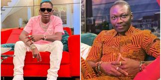 Shatta Wale clashes with pundit, Arnold Asamoah on TV [Watch]