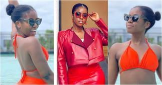 MzVee erupts a stir as she drops bikini photos flaunting her fresh backside in swimming pool ▷ Ghana news