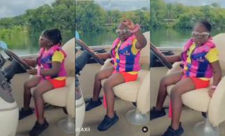 Stonebwoy's Daughter Jidula Takes Her Parents On A Luxury Boat Cruise