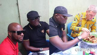 British High Commissioner Iain Walker goes on Waakye Tour with Bola Ray