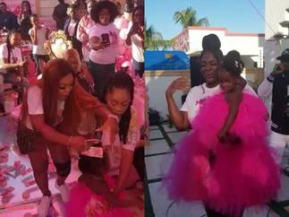 Overly Stingy And Eye-Red Afia Schwar Spreads Tracey Boakye's Daughter With GHC 1 Notes At Her Birthday Party