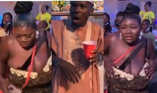Lady with Huge Melons Causes Stir As A Wedding Guest Couldn't Keep His Eyes Off Her » GhBasecom™