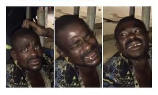 Thief forced to laugh while being beating for stealing light cables in Takoradi