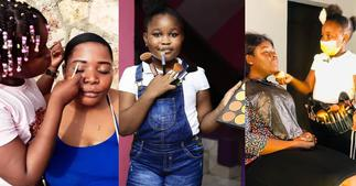Stylish Nellisa: Photo of 10-year-old Beautician Braiding hair at age 4 Surfaces Online ▷ Ghana news