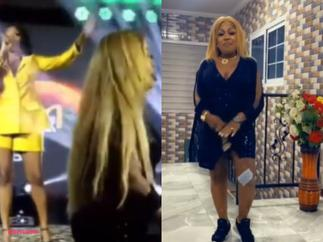 Wendy Shay Boldly Jabs Afia Schwar On Stage After She Hit The Dance Floor During Her Performance