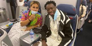 Michael Blackson brings fiancée to Ghana few hours after Newy York proposal