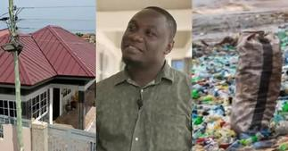 Giving life to plastics: Meet the Ghanaian innovator who builds houses with plastic waste