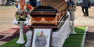 Police officer killed during bullion van attack laid to rest [Photos]
