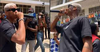 KiDi lives up to offer to perform at school of viral 'Our Day' student; video drops ▷ Ghana news