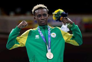 Tokyo Olympic Games: Ghana's Samuel Takyi receives his bronze medal