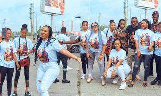 Mona Keeps fit with the Ghana union of DJs(+PHOTOS) » GhBasecom™