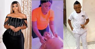Yaw Dabo: Actor Gets A Massage From His Kumawood Girlfriend Vivian Okyere In Video; Stonebwoy Reacts ▷ YEN.COM.GH