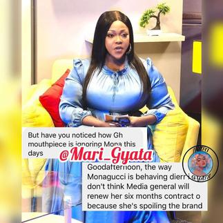 Mona Gucci Set to be the Next Presenter Sacked by Media General for Tarnishing their Brand