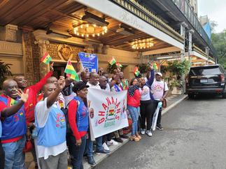 Ghanaians in USA welcome Akufo-Addo with cheers