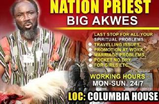 Big Akwes now a fetish priest?