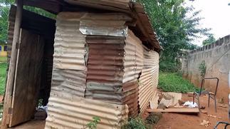 E/R: Both male and female students of Apeguso SHS share same pit latrine