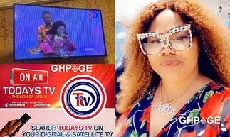 Nana Agradaa jubilates as her Thunder TV station goes back on air as Todays TV