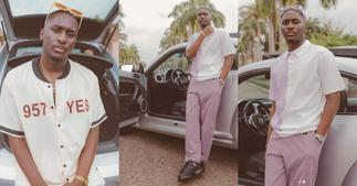 Saahene Osei: 5 Recent Photos of Despite's Tall Son Flexing New Luxury Car ▷ Ghana news