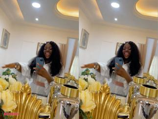 Tracey Boakye Trolled Over Unnecessary Gold Decor After Flaunting her Room to Tease Delay