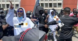 angry Shatta Wale tells critics whilst leaving court