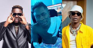 Shatta Wale shows massive love to Medikal as he tattooes rapper's name on his body ▷ Ghana news
