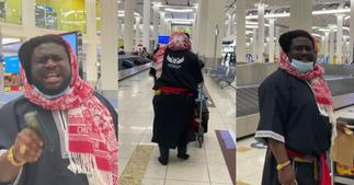 Ajagurajah mistaken for a 'mad man' in Dubai over his dressing and appearance; video drops ▷ Ghana news
