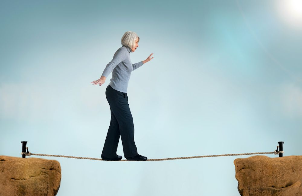 Zaburzenia równowagi u osób starszych