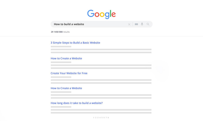 Write a question into Google search.