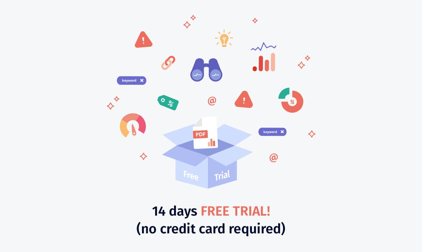 Try Seodity for free. 14 days trial.