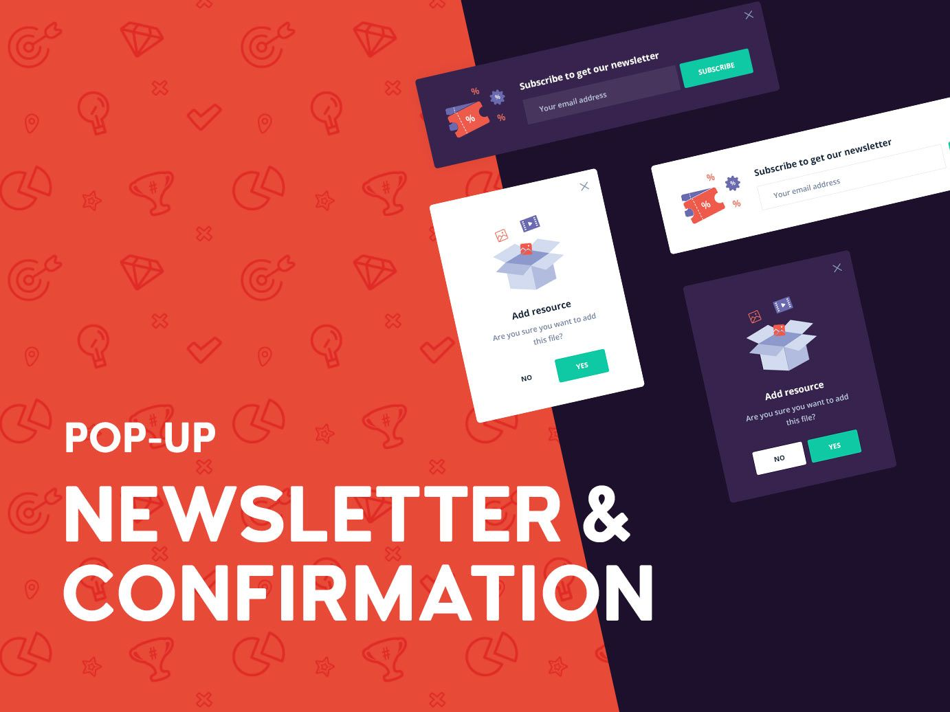 Newsletter and confirmation popup