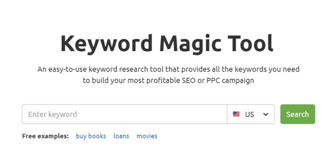Keyword Magic Tool screen-shot