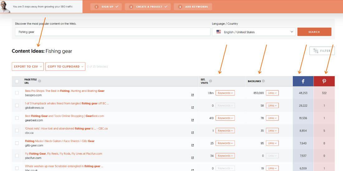 Ubersuggest content ideas screen-shot