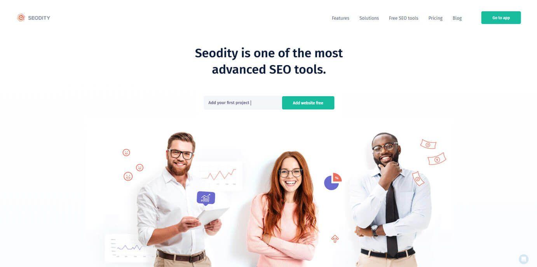 Seodity Homepage screen-shot