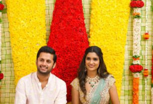 Actor Nithin engagement pics