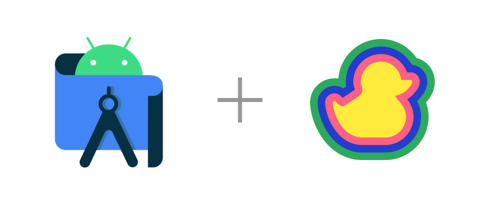 Android Studio and Duckly logos