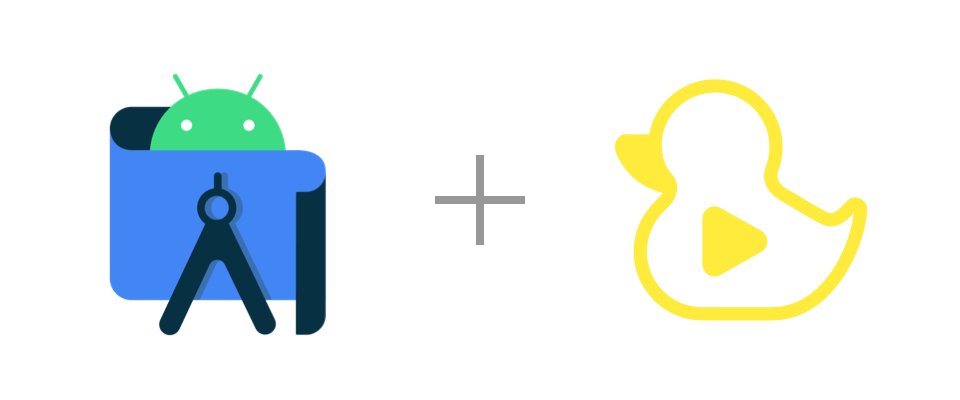 Android Studio and GitDuck logos