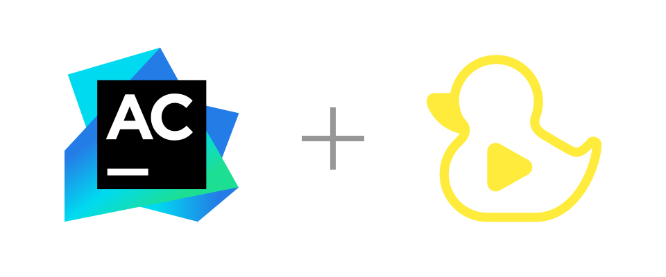 AppCode and GitDuck logos