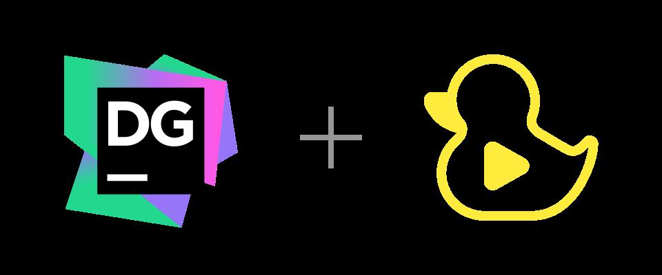 DataGrip and GitDuck logos