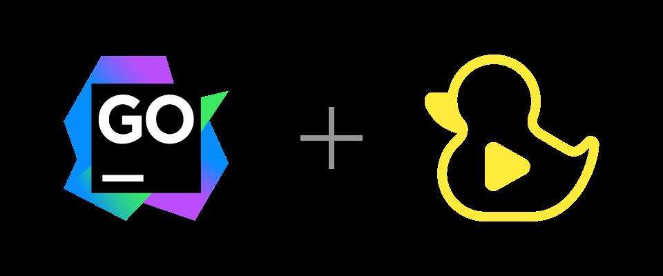 GoLand and GitDuck logos