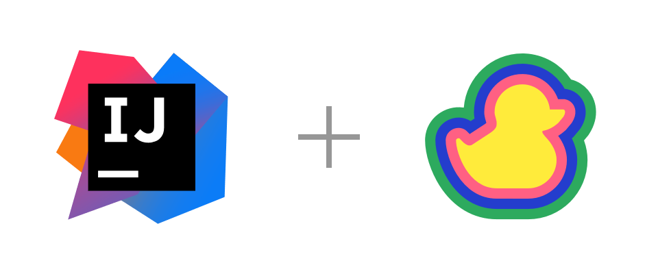 IntelliJ and Duckly logos