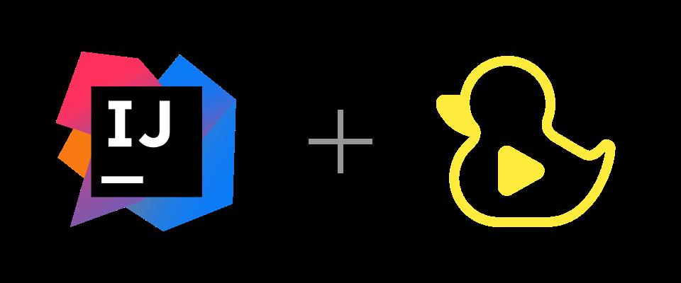 IntelliJ and GitDuck logos