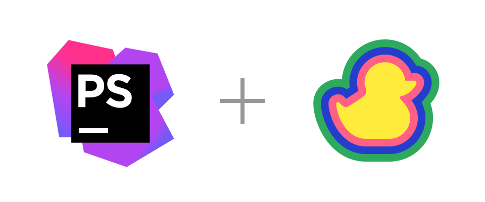 PhpStorm and Duckly logos