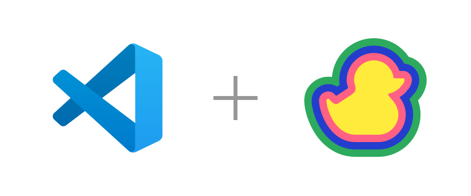 VS Code and Duckly logos