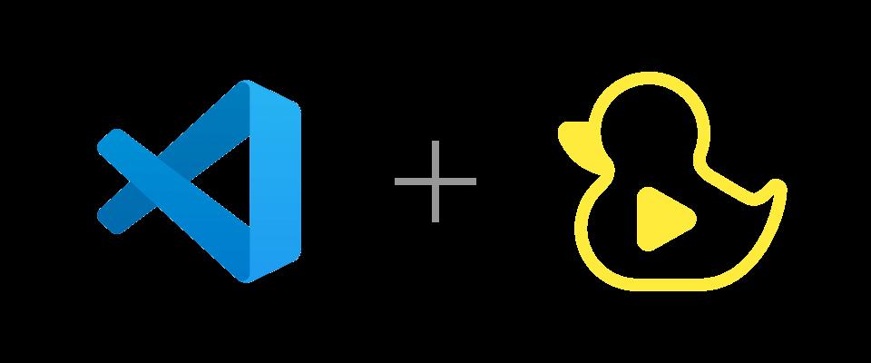 VS Code and GitDuck logos