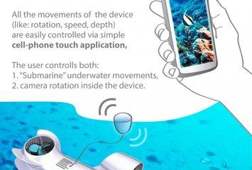 מצלמה תת-מימית המופעלת באמצעות חיבור wi-fi