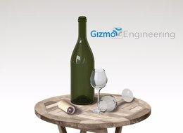 פקק עם מנגנון פתיחה לבקבוק יין