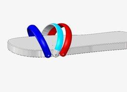 מודל סנדל בהדפסת תלת מימד