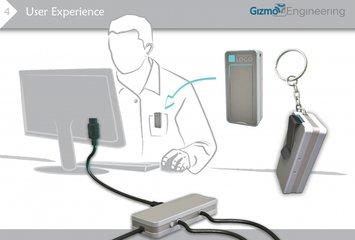 מכשיר חכם לכיבוי צג מחשב באופן אוטומטי ועצמאי.