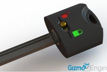 מנגנון מכני פשוט המזכיר על נעילתה באמצעות שני איורים המופיעים על גבי המפתח